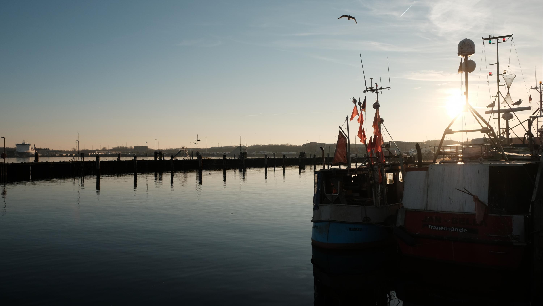 Hafen-Atmosphäre in Travemünde